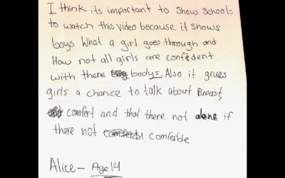 BLOG: Letter from Alice (age 14)